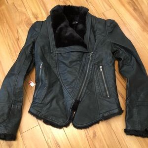 Le Chateau Faux Leather Jacket